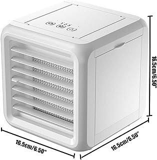 LJXD Mini acondicionador de Aire portátil Acondicionador de Aire purificador del humectador del USB 7 Colores de Escritorio Luz Aire Ventilador de refrigeración