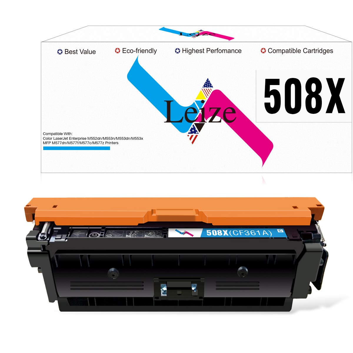 M681F 657X M682ZHigh Yield My Office Stock Compatible Toner Replacement for HP CF472X M681Z Yellow Works with: Color Laserjet Enterprise M681DH