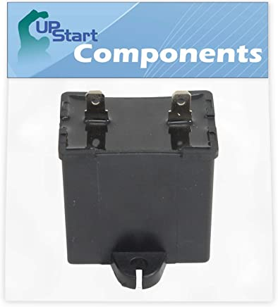 W10662129 Refrigerator and Freezer Compressor Run Capacitor Replacement for Amana A8RXEGFXD00 Refrigerator Compatible with 2169373 WPW10662129 Run Capacitor UpStart Components Brand