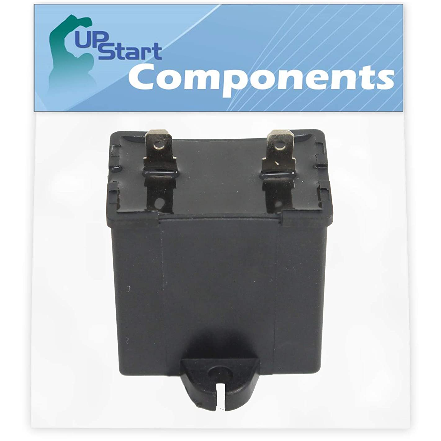 W10662129 Refrigerator and Freezer Compressor Run Capacitor Replacement for KitchenAid KBRS22EVBL00 Refrigerator - Compatible with 2169373 WPW10662129 Run Capacitor - UpStart Components Brand