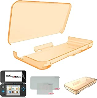 Hikfly Ultra Clear Crystal TPU Cover Shell for Nintendo New 2DSXL/LL(2017 Release) Transparent Protective Case Anti-Scratch Housing with High Clear PET Film Screen Protector