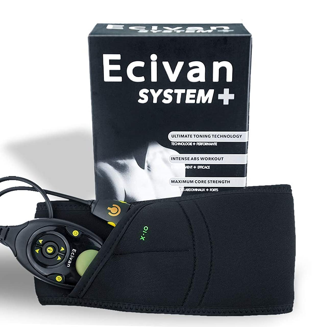 判定樹皮フレットEcivan EMS 腹筋ベルトボディフィットスリム トレーニング 電気振動マッサージ 痩身マシン 電動器具腹巻き USB充電 150階段