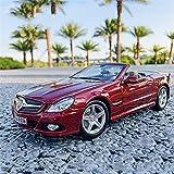 JKSM Coche Modelocinc 1:18 para Mercedes para Benz SL 550 Aleación Retro Modelo De Coche Clásico Coche Decoración Colección Regalo Modelo De Fundición A Presión