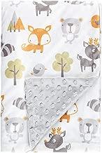 Fox Baby Blanket Boys Soft Minky Baby Blanket Fleece Baby Girl Security Fox Blanket Plush Dot Toddler Baby Newborn Blanket Woodland for Nursery Stroller Crib Receiving Blanket Infant Unisex