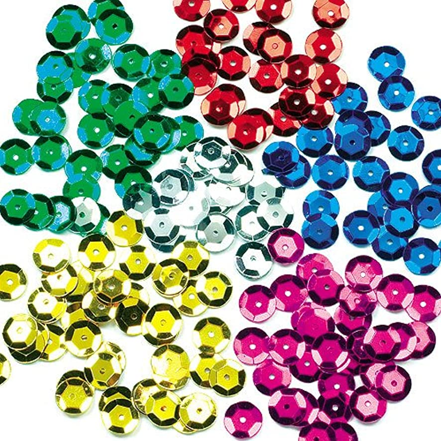 Baker Ross colored Sequins for Children for Collage and Decoration (90g jar) d6182649639