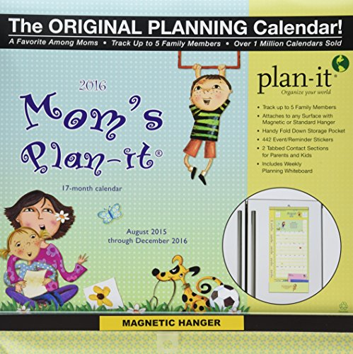 Wells Street by Lang Mom's 2016 Plan-It Plus, August 2015 to December 2016, 12 x 26.5 inches (7009167)