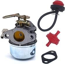 FitBest New Tecumseh 640084B HSK40 HSK50 HS50 LH195SP Snowblower Carburetor with Primer Bulb & Fuel Line Filter