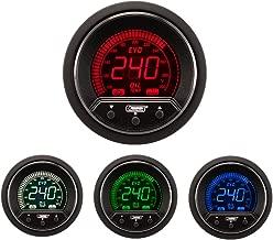 NEW Oil Temperature Gauge- Electrical Digital Green/white/red/blue Premium EVO Series 52mm (2 1/16)