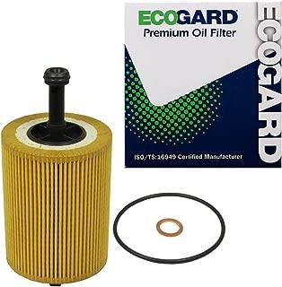 ECOGARD X8113 Premium Cartridge Engine Oil Filter for Conventional Oil Fits Audi TT Quattro 3.2L 2004-2009, A3 Quattro 3.2L 2006-2009, A3 2.0L DIESEL 2012 | Volkswagen Jetta 2.0L DIESEL 2009-2014