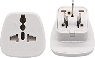 Travel Adapter for Australia/New Zealand with Safety Shutter and Insulated Pins, US/UK/JP/CN/EU to AU/NZ Grounded Outlet S...