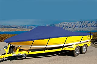CRV-SBU 7 oz Solution Dyed Polyester Material Custom Exact FIT Boat Cover BAYLINER Capri 1850 LS 1994-1997