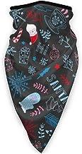TTYIY Winddicht Ski Masker, Sport Gezichtsmasker, Motorhals Warmer Sjaal, Kerstmis Met Kerstman, Sneeuwbol, Snoepriet, Fi...
