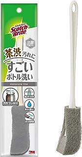 【Amazon限定】スリーエム(3M) キッチン スポンジ すごいボトル洗い スコッチブライト MBC-03KGY02. グレー本体
