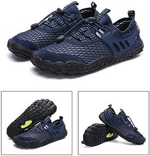 ACHICOO Men Breathable Aqua Shoes Flat Footwear Outdoor Seaside Elastic Sneakers