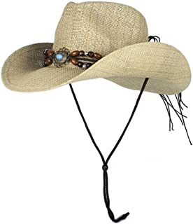 LiWen Zheng Cowboy For Women Men Khaki Ethnic Style Summer Beach Straw Sun Hats Straw Hat Female Male Cowboy Hat 5 Orders