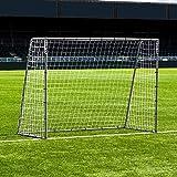 FORZA Steel42 Portería de Fútbol - Portería de Acero Galvanizado (2,4m x 1,8m)