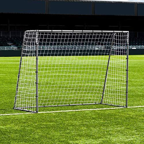 FORZA Steel42 Fußballtore – hochwertiges Garten Tor aus Stahl – 3 Größen erhältlich (2,4m x 1,8m)