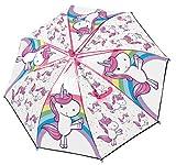 POS Handels GmbH Stockschirm mit Einhorn Motiv, Regenschirm für Mädchen, Manuelle Öffnung und Fiberglasgestell Parapluie Canne, 62 cm, Multicolore (Bunt)
