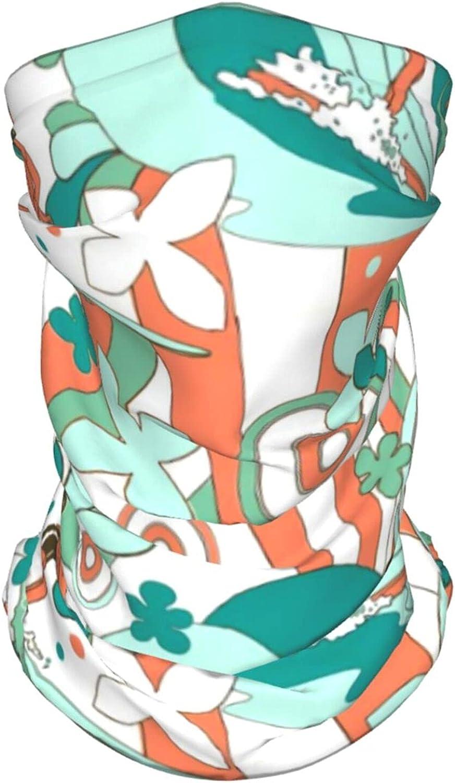 Surfers Spoonflower Pattern Neck Gaiter Multipurpose Headwear Ice Silk Mask Scarf Summer Cool Breathable Outdoor Sport 4 Pcs