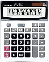 $33 » Calculator, Dual Power Electronic Calculator, Portable 12-Digit Large LCD Display Calculator, Hand-held Calculator Suitabl...