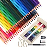 Scriptract Colored Pencils for Adults, 48 Coloring Pencil Set with Roll Up Canvas