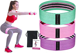 JOXJOZ Resistance Hip Bands Set of 3,Exercise Bands for Legs and Butt, Stretching Gym Booty Bands Wide Workout Bands Hip Band for All Training Levels Women Men