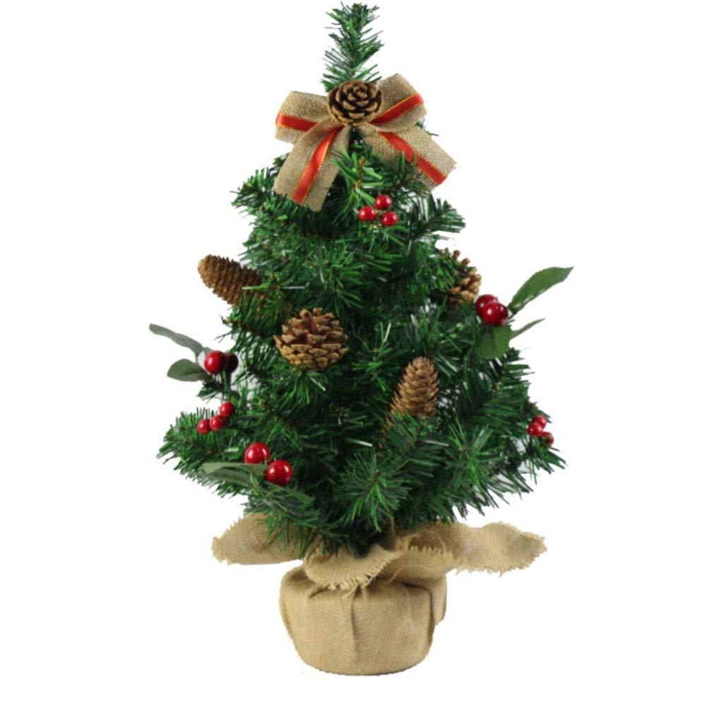ASKLKD Árbol De Navidad Falso Pequeña Botella Pino Mini Sisal ...