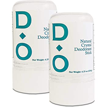 D-O 100% Natural, Crystal Deodorant Stick, 4.25 Oz, No Aluminum Chlorohydrate, Parabens, Propyls, or Other Chemicals (2 Pack)