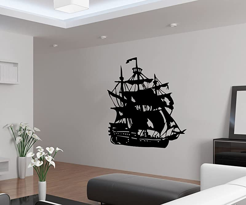 CreativeWallDecals Vinyl Wall Decal Sticker Boy Ship Nursery Peter Pan Gift Bedroom Sea A31