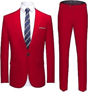 Men's Suit Slim Fit One Button 2 Piece Suit Tuxedo Business Wedding Party Casual