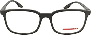 Prada Sport - PS05MV Black Rectangle Women Eyeglasses - 55mm