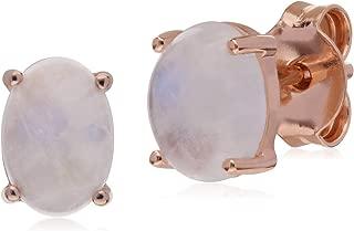 Gemondo Argento Sterling Zaffiro semplice Lunetta rotondai orecchini a perno