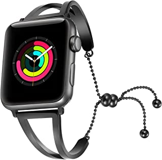 fastgo Bracelet Compatible for Apple Watch Band 38mm 40mm 42mm 44mm, 2018 Dressy Fancy Jewelry Bangle Cuff for Iwatch Bands Series 4 3 2 1 Women Girls Adjustable Stainless Steel Pendant