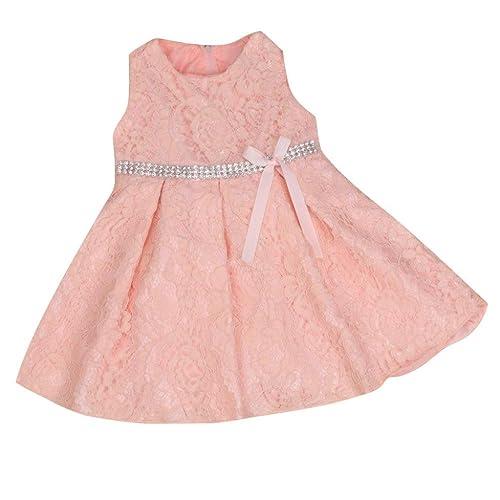 09593998085 Rosa Weiße Baby Kleider  Amazon.de