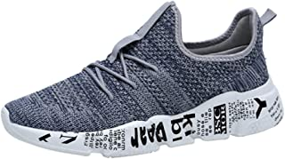 8HAOWENJU Men's Sports Shoes Super Light Breathable Mesh Running Shoes,