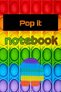 Composition Notebook: Pop It Notebook - for Girls Boys Kids Birthday Parties School- (6X9 inch) 120 page lined school writ...