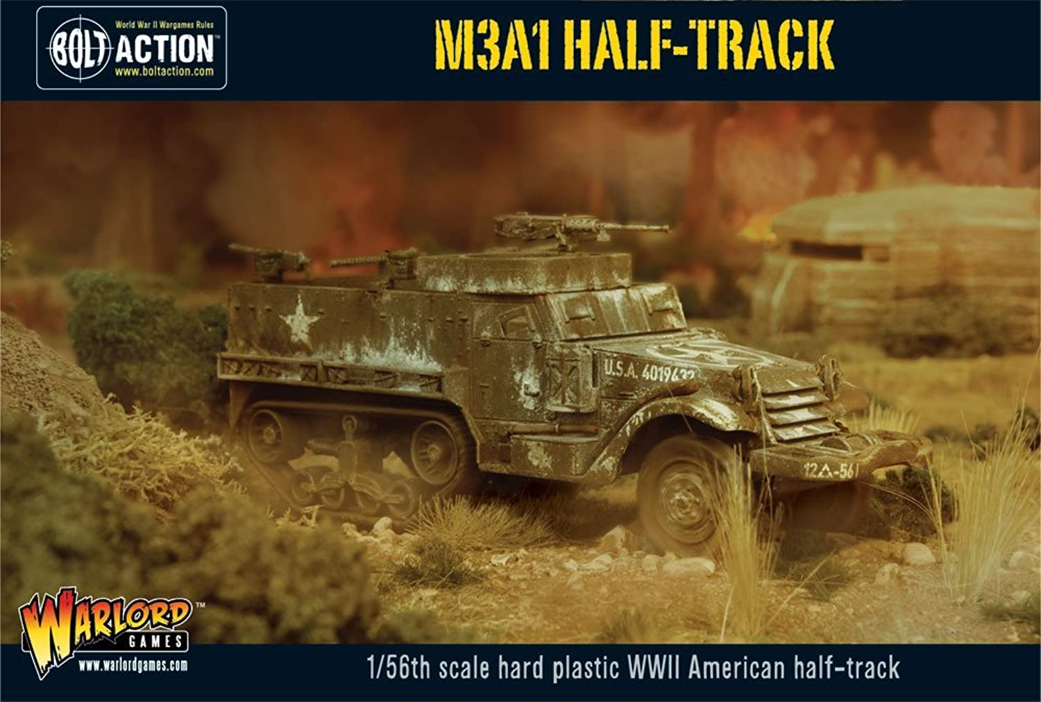 Bolt Action M3A1 Half  Track  1.56th Scale