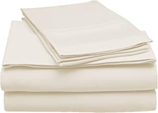 Superior 100% Modal 4-Piece Solid Sheet Set, King, Ivory