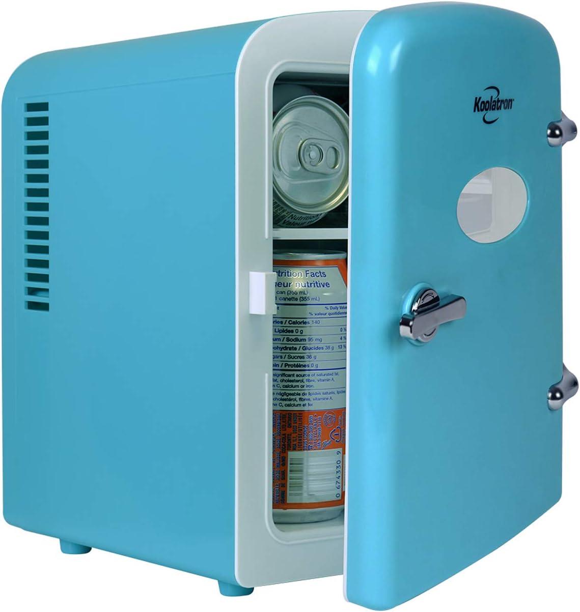 Koolatron Retro 送料無料 Mini Fridge 4 Thermoelectr 6 Can Portable ストア Liter