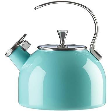 KATE SPADE 857005 Turquoise Tea Kettle, 3.8 LB