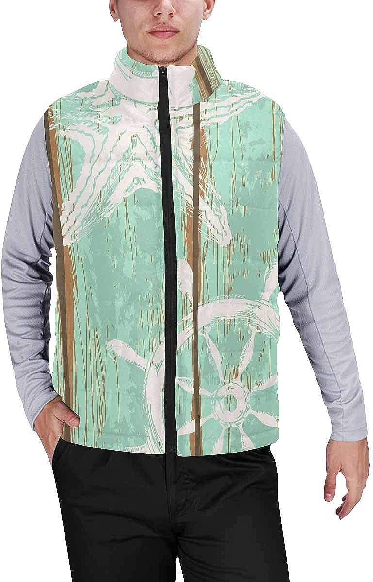 InterestPrint Men's Lightweight Keep Warm Puffer Vest for Outdoor American Football