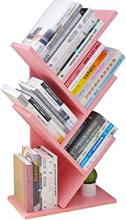 JKGHK Étagère De Bureau en Bois Petit Arbre, Étagères De Rangement Bibliothèque sur Pied, pour Étagère De Rangement pour B...