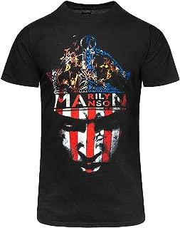 Marilyn Manson Fire Heaven Upside Down Rock Official Tee T-Shirt Mens Unisex