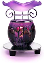 1 X Purple Tie Dye Electric Oil Warmer with a Mirrored Base