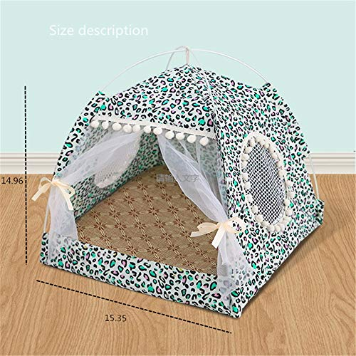 Kleine hondentent Indoor Tipi-tent, Klassieke Indiase speeltent Draagtas, Muren met deur, Raamvloer, Pacifische speeltenten Baby-camouflage Militaire pop-up speeltent - Opvouwbaar binnen/buiten