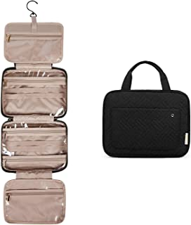 BAGSMART Hanging Toiletry Bag Travel Large Wash Bag Womens Cosmetic Bag Clear for Full Sized Container