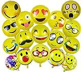 ballonfritz® Juego de globos con imágenes de emoticonos, 15 + 2, para imágenes únicas en bodas, fiestas, cumpleaños o cualquier otra ocasión.