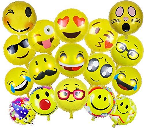 ballonfritz® Emoji Partyfotos Luftballon Set 15+2 - für einzigartige Bilder bei Hochzeit, Party, Geburtstag oder Anderen Anlässen!