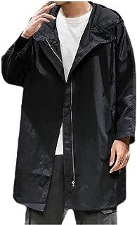 MogogoMen Casual Trendly Zip-up Hood Mid-Long Outerwear Jackets