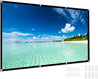 120 Inch Portable Video Projector Screen, Yeeco 16:9 HD Foldable Outdoor Indoor Movie Screen Front Rear Projection Screen ...